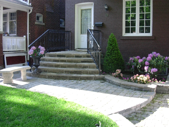 natural stone steps, walkway, formal
